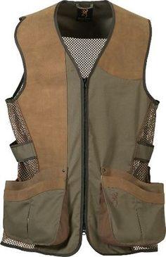 Browning Santa FE Pro Shooting Vest Skeet Trap 2XL Sage Oak Leather Trim