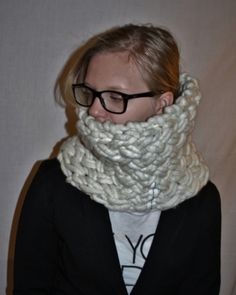 knitted cowl i basketweave stitch, super bulky yarn (fat&fluffy merino) and giant needles worldwide shipping online shopping! Super Bulky Yarn, Knit Cowl, Basket Weaving, Girls Night, Stitch, Online Shopping, Knitting, Crochet, Projects