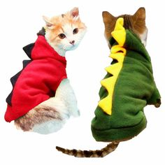 Warm Cat Clothes Pet Dog Costume Suit Halloween Dragon Clothing For Cat Halloween  Costume Cat Animals Clothes Hoodie Coat 5a39625c9818