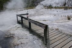 Viewing Platform over Fred and Maggie Pools (Hot Springs)