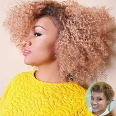 #ONYCHair #TransformationTuesday Look how this #ONYCBeauty transformed her short and sassy curls with #hair from #ONYC Golden Collection Kinky Curly 3B-3C!  Shop US Now >>> ONYCHair.com Shop UK Now >>> ONYCHair.uk Shop NG Now>>> ONYCHair.ng