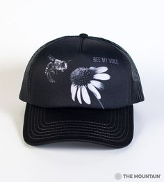 6bce35e952f4a The Mountain Adult Trucker Hat - Bee My Voice - Protect