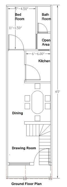 Ground Floor Plan Of A House   20x40 Feet Ground Floor Plan Plans Pinterest Photo Wall House