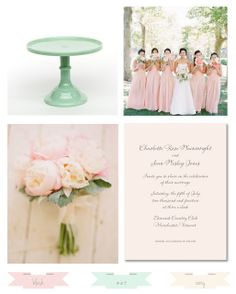 Pink and Mint Wedding - Coordinately Yours, by Julie Blanner