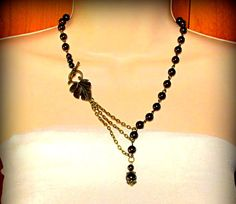 Necklace with Alluring Pearls and Gorgeous Leaf by byBrendaElaine