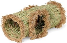 This Pet Grass Tunnel Toy is a hand-woven grass activity center for your small animal. Satisfies natural instincts to burrow, explore and nest. Ideal for a guinea pig, dwarf rabbit or ferret. Rabbit Toys, Pet Rabbit, Guinea Pig Toys, Guinea Pigs, Pet Grass, Black Grass, Dwarf Rabbit, Large Rabbits, Animales