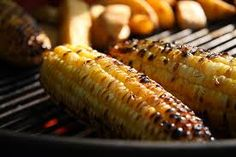 Roasted corn: eaten with red chilli powder, salt, and some lemon juice!