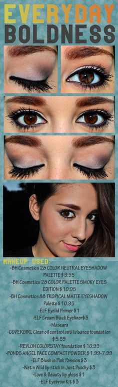 Everyday makeup look with instructions DIY do it yourself for step by step instructions  follow :http://flairatouchofposh.wordpress.com/