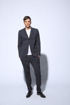 fashion comfortable jacket with natural shoulder | comfortable pants