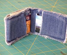 Too short for off-the-rack jeans? Hem the jeans and make a matching wallet with the excess left over.All too often I'm stuck buying pants that are too...