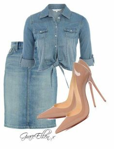 date casual outfit Denim Fashion, Look Fashion, Fashion Outfits, Womens Fashion, Fashion Trends, Fashion Skirts, 70s Fashion, Korean Fashion, Fashion Inspiration
