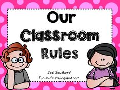 Classroom Rules Freebie & 5 Minute Friday