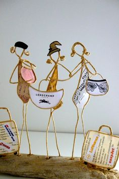 Etsy - Shop for handmade, vintage, custom, and unique gifts for everyone Sculptures Sur Fil, Wind Sculptures, Wire Crafts, Diy And Crafts, Origami And Quilling, Wire Art, Paper Toys, Crafts For Teens, Rock Art