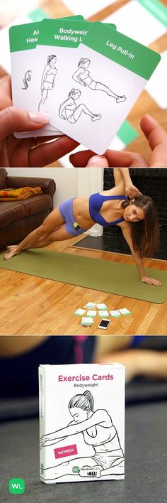 11. Work out anywhere and anytime with these waterproof Exercise Cards. Get them here.