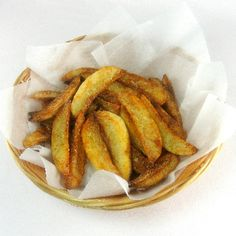Oven Baked Parmesan Steak Fries ••• Ingredients: Idaho potatoes, extra virgin olive oil, garlic salt, freshly ground black pepper, finely grated Parmesan cheese ••• Get the recipe @ http://www.oneperfectbite.blogspot.com/2012/02/oven-baked-parmesan-steak-fries.html