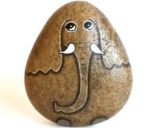 Elephant. Hand Painted Rock , Hand Painted Stone