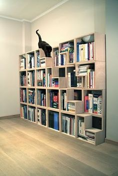 Cat library - bookcase with cat steps by Corentin Dombrecht