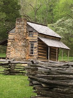 John Oliver's historic cabin in Cades Cove Loop inside the Smoky Mountain National Park