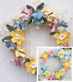 Crocheted Spring Wreath