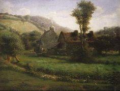 Jean-Francois Millet Landscape | Jean-Francois Millet - Cottage in a Landscape