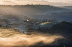 Slovenian country side from Vrh Sveti  Trojice by Luka Esenko