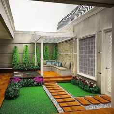 35 Nice Minimalist Backyard Landscaping Design Ideas You Will Love - You have decided that it's high time you did something for your backyard. For many years now, it has been bare, save for a few of your kids' toys and . Small Backyard Gardens, Backyard Patio Designs, Small Backyard Landscaping, Outdoor Gardens, Minimalist Garden, House Plants Decor, Interior Garden, Terrace Garden, Landscape Design