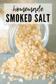 This Smoked Salt is an awesome way to infuse a variety foods with smoky flavor. Simply prep your smoker for cold smoking and smoke away! This recipe is extremely versatile and allows you to play aroun Traeger Recipes, Grilling Recipes, Grilling Ideas, Rib Recipes, Sauce Recipes, Bbq Ribs, Pork Ribs, Churros, Pellet Grill Recipes