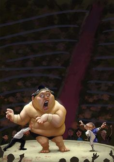 Sumo Character Illustration by Tiago Hoisel