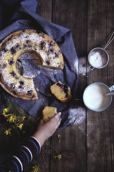 St[v]ory z kuchyne | Lemon bundt cake with Blueberries