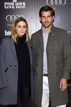 """Olivia Palermo and Johannes Huebl attend the screening Of Marvel's """"Captain America: Civil War"""" hosted by The Cinema Society with Audi & FIJI at Henry R. Luce Auditorium at Brookfield Place on May 4, 2016 in New York City."""