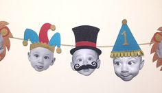 Your place to buy and sell all things handmade Baby Party Hat Banner Circus Themed by ChevronClubhouse on Etsy Boys First Birthday Party Ideas, 1st Birthday Party Invitations, Wild One Birthday Party, First Birthday Banners, Baby Boy Birthday, Dinosaur Birthday Party, Boy Birthday Parties, Baby Party, Teenage Party Games