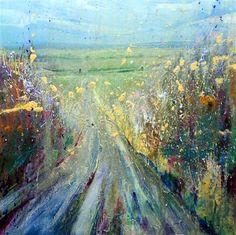 Hedgerow Acyrlic on canvas (50x50cm)Lorna Holdcroft