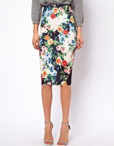 :Asos Floral skirt