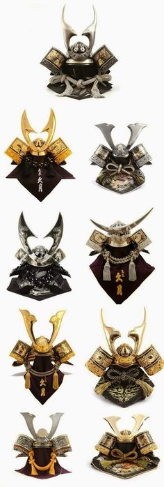 Samurai Helmets Collection.