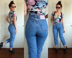 Vintage 90's High Waisted Skinny Bongo Jeans by TheVelvetMoon, $45.00