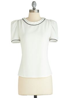 Prim and Punctual Top, $49.99, #ModCloth