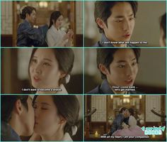 baek ah proposed woo hee for marriage and then they both kiss- Moon Lovers Scarlet Heart Ryeo - Episode 19 Moon Lovers Quotes, The Witch 2016, Mirror Of The Witch, Lee Joong Ki, Sungkyunkwan Scandal, Princess Agents, Good Fellows, Drama Quotes, Romantic Scenes