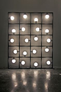 """""""Squares"""" floor/wall lamp by ARETI So did you? I'll save you the trouble: it's not a maze. I so wished it was, would've been so cool to find a path through!"""