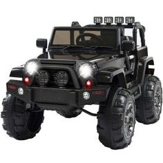 Best Choice Products Ride On Car Truck w/ Remote Control, 3 Speeds, Spring Suspension, LED Light Black: Toys & Games Toy Cars For Kids, Robots For Kids, Best Electric Car, Electric Cars, Electric Vehicle, Remote Control Cars, Radio Control, Ride On Toys, Lead Acid Battery