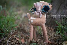 Adorable Handmade Plush Deer by Brighteyesshop on Etsy Bright Eyes, Deer, Plush, Trending Outfits, Children, Handmade Gifts, Etsy, Vintage, Sparkling Eyes