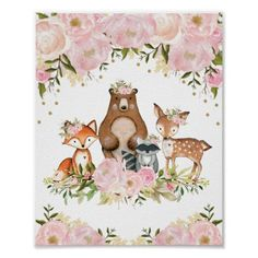 Girly Woodland Baby Shower Guest Book Sign Featuring Adorable Forest Animals and Soft Blush and Pink Watercolor Peonies Matching items available in our store! Size: x Gender: unisex. Material: Value Poster Paper (Matte). Baby Shower Cards, Baby Shower Favors, Baby Shower Invitations, Baby Girl Favors, Forest Baby Showers, Jamel, Girl Baby Shower Decorations, Woodland Baby, Woodland Theme