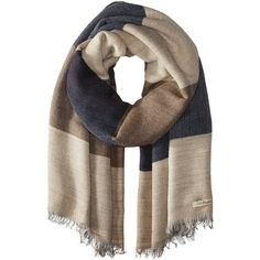 La Fiorentina Women's Italian Oversized Color-Block Scarf (149900 IQD) ❤ liked on Polyvore featuring accessories, scarves, sciarpe, oversized scarves, la fiorentina and la fiorentina scarves