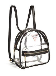 Dalia Lucite Backpack at Guess Guess Backpack, Chic Backpack, Backpack Bags, Cute Mini Backpacks, Stylish Backpacks, Girl Backpacks, Cute Laptop Bags, Cute Bags, Luxury Purses