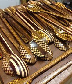 Craftsmen wooden spoons!  Useful art !!