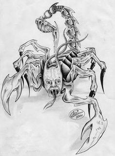 Galeria tatuazy - Tatuaz skorpion
