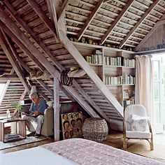 love rooms with lots of angles & nooks...