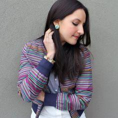 DIY Fabric Earrings : DIY Fabric Button Earrings