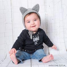 Bear and cat hat Crochet Toddler Hat, Crochet Cat Toys, Crochet Slouchy Hat, Knitted Cat, Crochet Beanie Pattern, Fast Crochet, Cute Crochet, Adobe Reader, Cat Hat