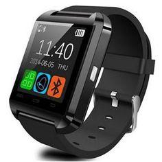 Smartwatch U8 Preto Relógio Inteligente Bluetooth Android Iphone