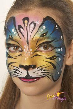 Vlindertijger schminken | Stap-voor-stap vlindertijger schminken - Gerepind door www.gezinspiratie.nl #schminkspiratie #schmink #kids